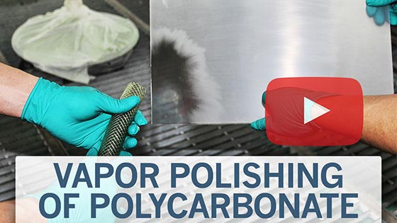 vapor polishing of polycarbonate