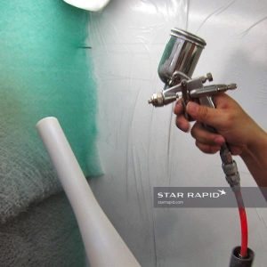 Priming ABS part for chrome plating