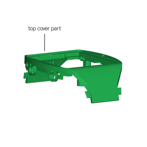 The 3D drawing of the part: 'Top Cover'