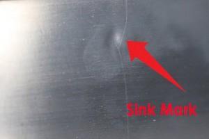 sink mark detail