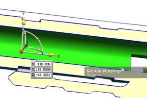 Pen barrel draft angle